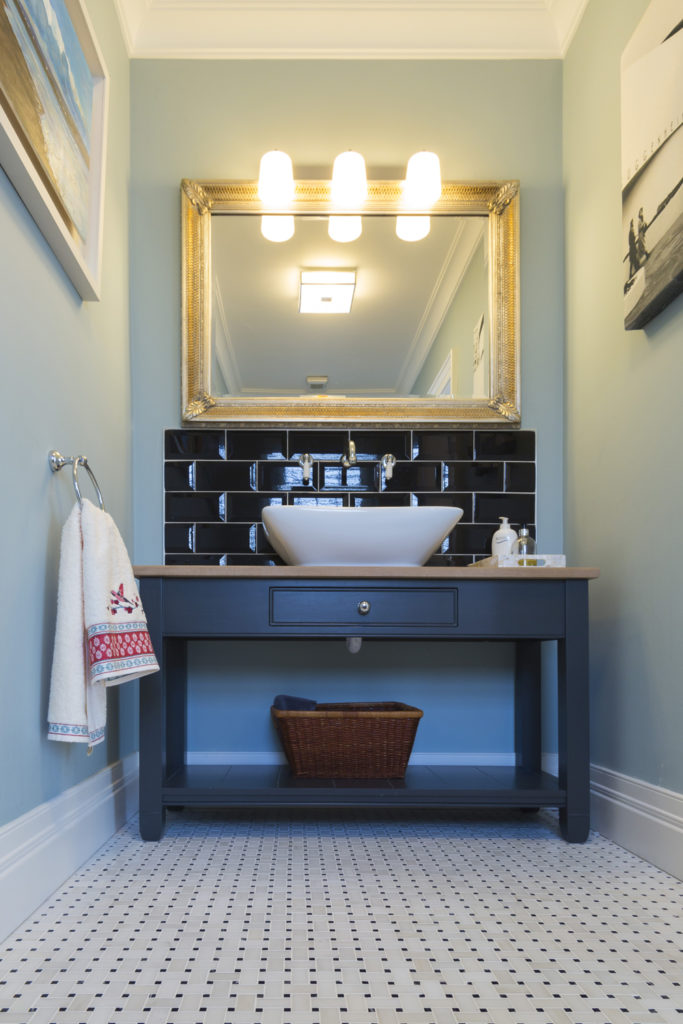 Classic Bathroom Style with Mosaic Floor