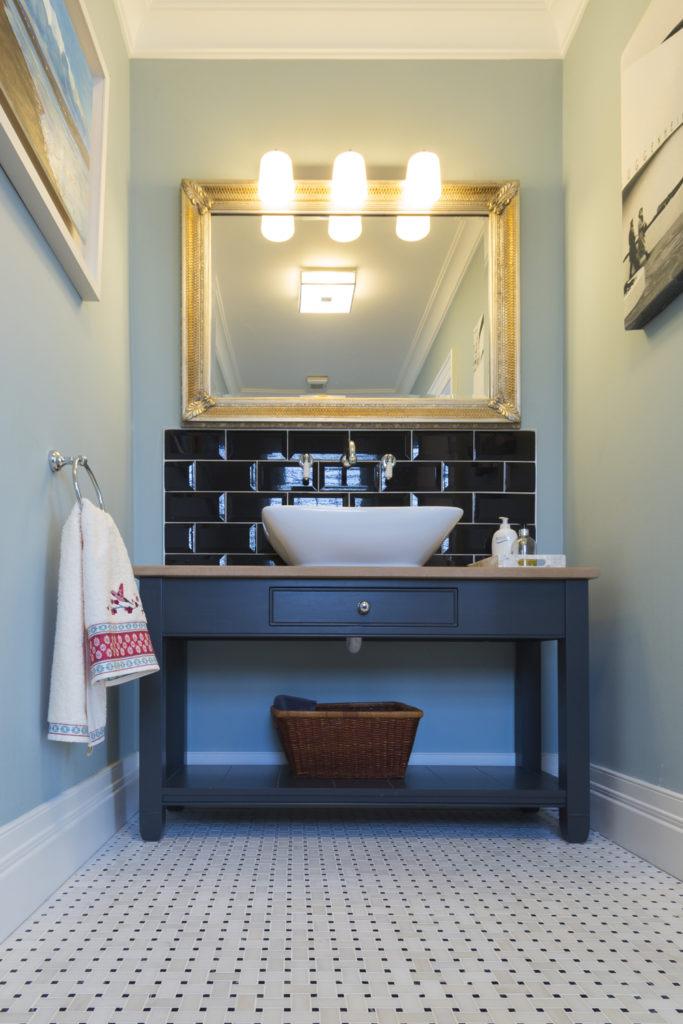 Classic Bathroom Style with Mosaic Floor
