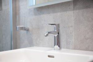 Modern Chrome Bathroom Tap www.tilemerchant.ie