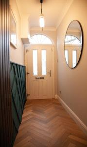 Herringbone engineered wood floor