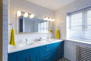 Blue Bathroom Units