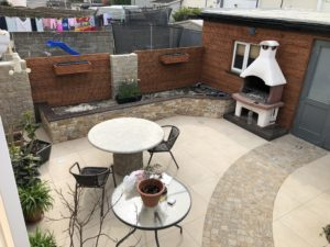 BBQ area created from 20mm outdoor porcelain