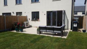 Garden patio created from outdoor porcelain