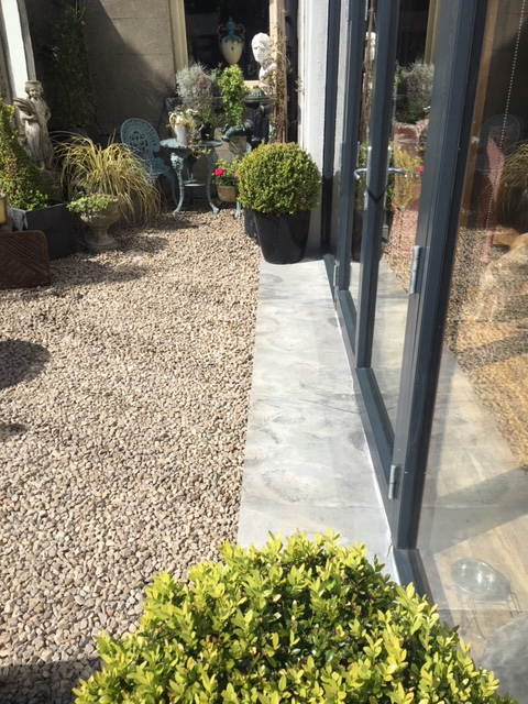 outdoor porcelain paving step