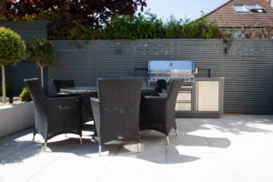Outdoor Porcelain BBQ area