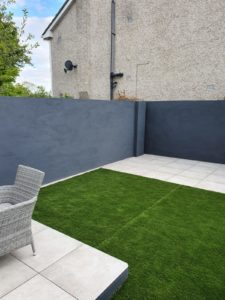 20mm outdoor porcelain tiles with artificial grass