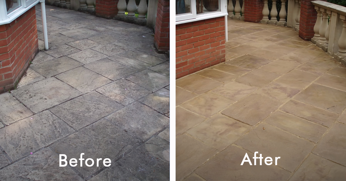How to clean patio slabs and tiles