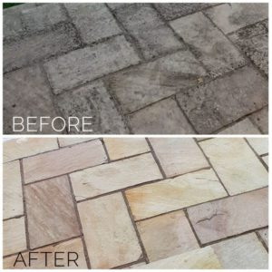 Before After Black Spots Outdoor Tiles