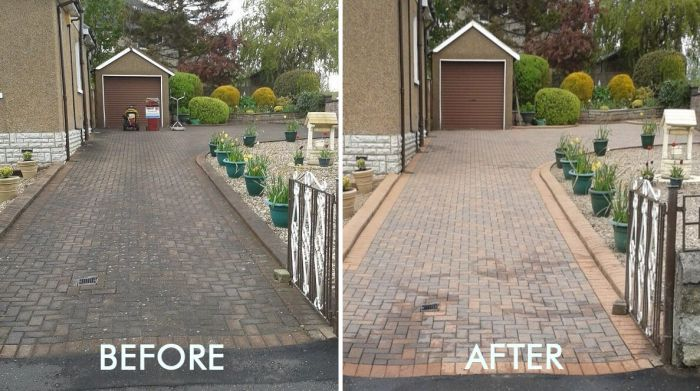 How to clean outdoor tiles and paving slabs