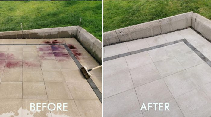 How to remove rust from outdoor tiles and paving slabs