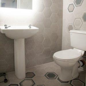 Hexagon Tiles for Bathroom