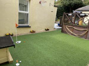 Artificial grass golf pitch