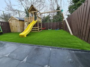 artificial grass is a wonderful option for a playground area