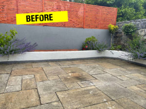 Sandstone Slabs to be cleaned with Black Spot Remover