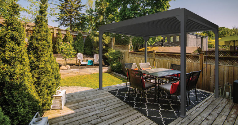 Pergolux™ Pergolas are made from highly durable aluminium. Aluminium has an impressively long service life, meaning that your Pergolux™ Pergola will require very little maintenance, especially when compared to wooden pergolas.