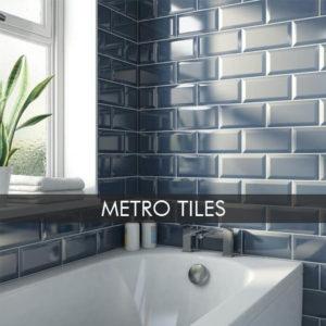 Metro tiles installed in a Bathroom in Dublin